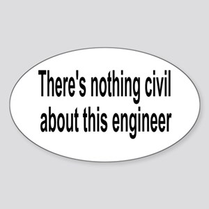 Civil Engineer Oval Sticker